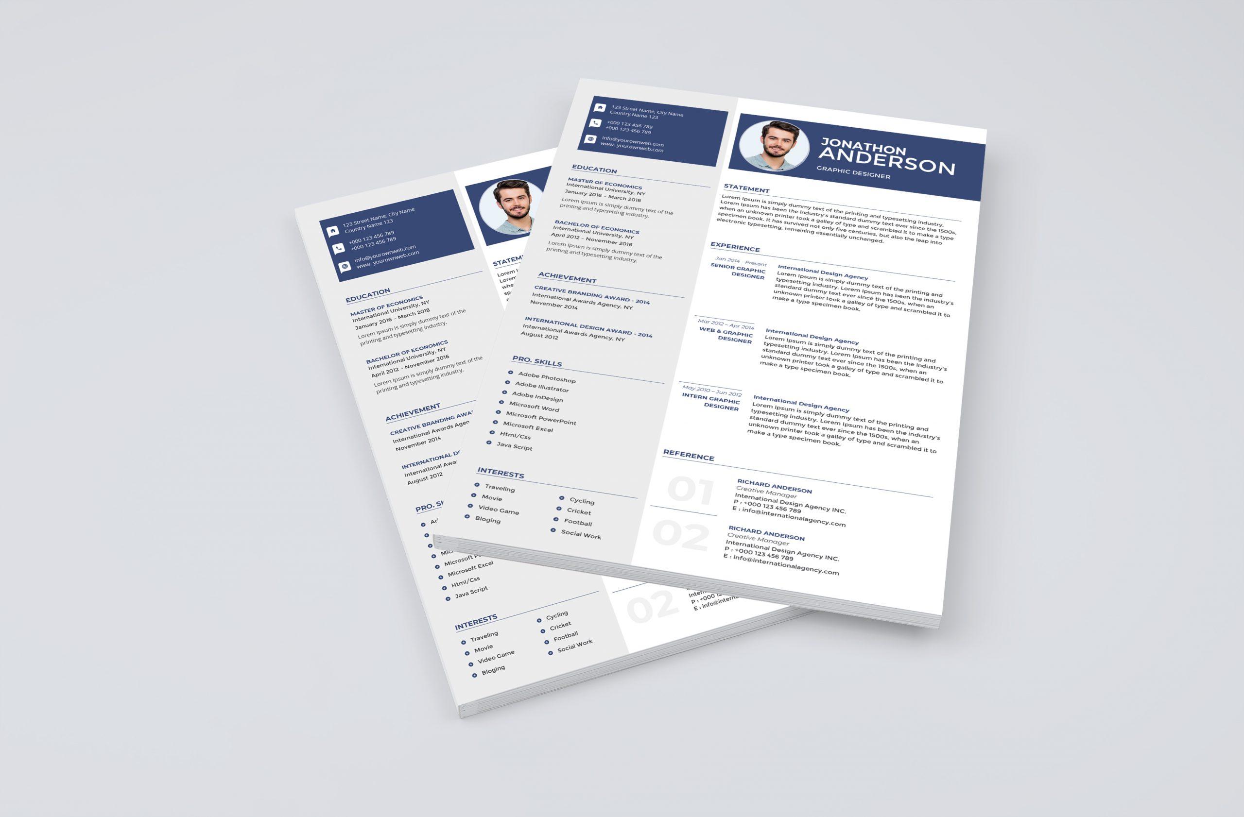 Minimalistic Resume Template