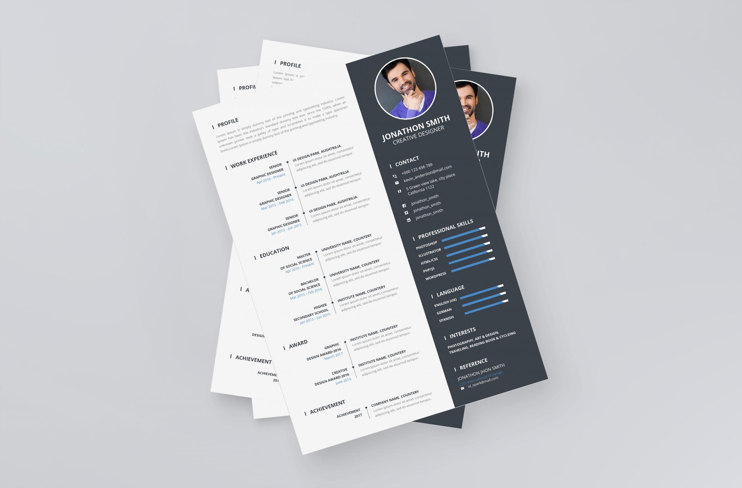 Resume Format CV Template