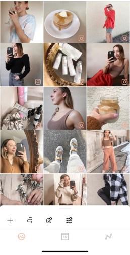 Screenshot of an Instagram feed app