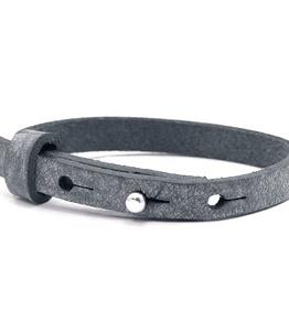leren SOS armband antraciet