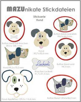Bild Stickserie Hund