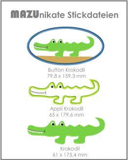 Bild Shop Stickdatei Krokodil