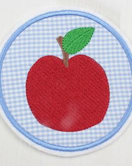 Bügelbild Apfel, Aufbügler, Applikation, Flicken, Aufnäher