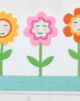 Bügelbild Blumenkasten, Bügelbild Blumentopf, Bügelbild Blumen, Blume, Aufnäher, Applikation, Aufbügler, Flicken, Blume Garten