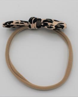 Haarband tricot leopard strik