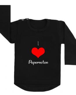 Sinterklaas shirt zwart I love pepernoten