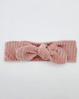 Wrap haarband oudroze corduroy