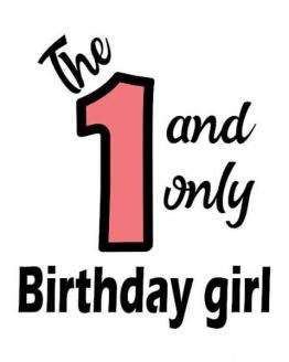 strijkapplicatie verjaardag één birthday girl. De leukste strijkapplicaties voor verjaardagen! Maak een gaaf verjaardagsshirt met een afbeelding of een tekst met onze strijkapplicaties. Natuurlijk kan je de strijkapplicaties ook op een tas of op hout drukken.