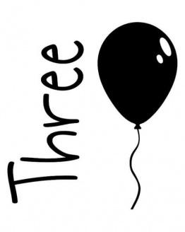 strijkapplicatie verjaardag drie ballon. De leukste strijkapplicaties voor verjaardagen! Maak een gaaf verjaardagsshirt met een afbeelding of een tekst met onze strijkapplicaties. Natuurlijk kan je de strijkapplicaties ook op een tas of op hout drukken.