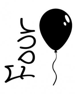 strijkapplicatie verjaardag vier ballon. De leukste strijkapplicaties voor verjaardagen! Maak een gaaf verjaardagsshirt met een afbeelding of een tekst met onze strijkapplicaties. Natuurlijk kan je de strijkapplicaties ook op een tas of op hout drukken.