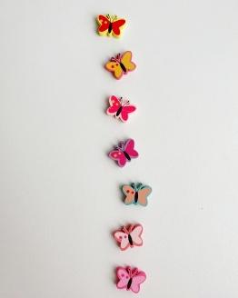 Houten vlinderkralen