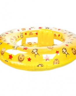 Gele circus baby zwemband met zitje