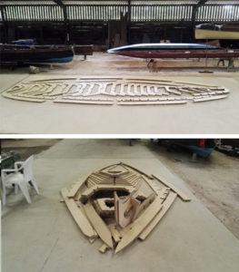 Construcción de la góndola de cartón de William Alexander