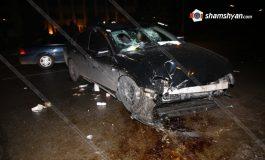 ՖՈՏՈ. Խոշոր ավտովթար Երևանում. 53–ամյա վարորդը Nissan Teana-ով բախվել է բետոնե բաժանարար գոտուն. կան վիրավորներ