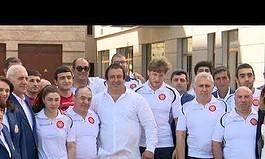 ՏԵՍԱՆՅՈՒԹ. Գագիկ Ծառուկյանը հանդիպել է Մինսկում կայանալիք Եվրոպական խաղերի մասնակից հայ մարզիկների հետ
