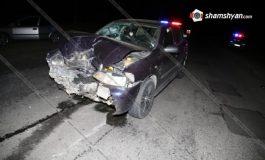 ՖՈՏՈ. Արագածոտնի մարզում իրար են բախվել 4 ավտոմեքենա. 5 հոգի հոսպիտալացվել է