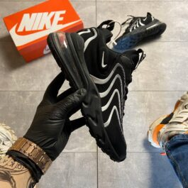 Nike Air Max 270 React Eng Black White (Чёрный)
