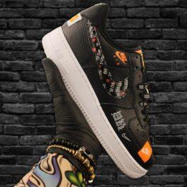 Кроссовки унисекс Nike Air Force 1 Low Just Do It Pack Black White