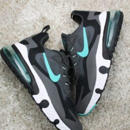 Мужские кроссовки Nike Air Max 270 x React Element Gray Black Blue