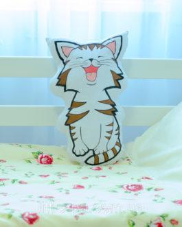 """Подушка детская для люльки из хлопка """"Котёнок"""""""