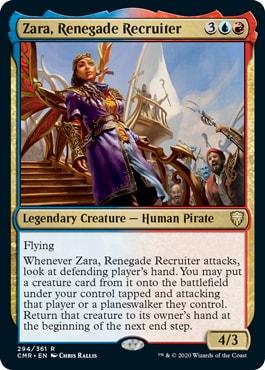Zara Renegade Recruiter Commander Legends All Cards