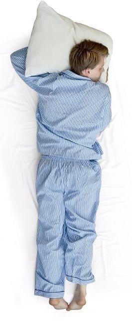 Bauchschläfer benötigen ein flaches Kissen.
