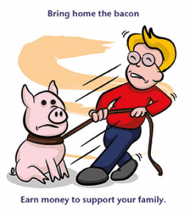 Bring Home the Bacon in English
