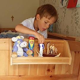 Weiß Bambus Hängeregal für Kinder Bett - 9