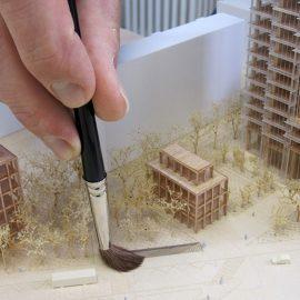 nettoyage et dépoussiérage d'une maquette d'architecture