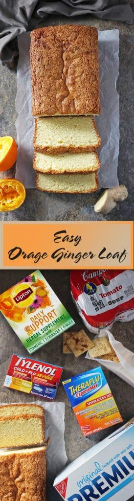 Easy Orange Ginger Loaf For Those Sick Days