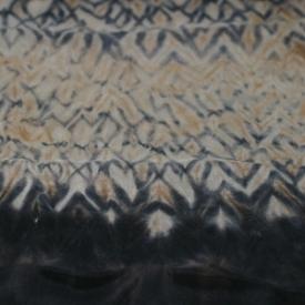 Mokume Shibori mit Entfärben