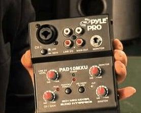 Pyle 2 Channel Usb Xlr Audio Mixer