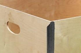 NO-NAIL BOXES: Hand hole