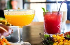 Mexican drinks - Fresh fruit juices, called Agua Frezca