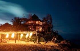 Tulum, Mexico - Nightlife on the beach