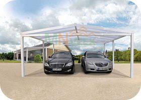 Garaje de Aluminio Carpot2 Vista Frontal MNVEEK