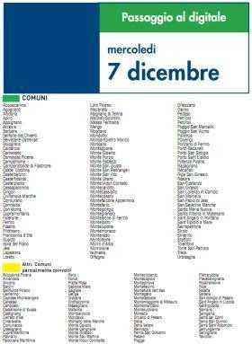 Mercoledi 7 Dicembre   Digitale terrestre: Dtti.it