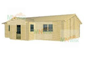 Casa de Madera Salamanca 10870x9010+3170mm 70mm vista general mnveek
