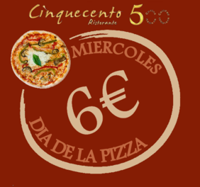 restaurante italiano valencia cinquecento -PIZZA DAY