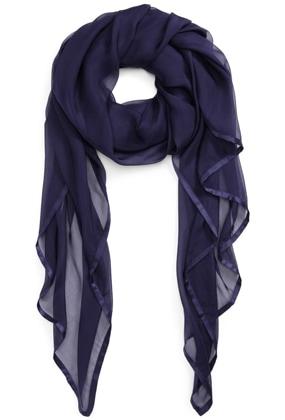 Nordstrom satin silk chiffon scarf | 40plusstyle.com