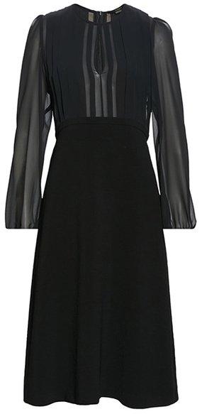 SEVENTY VENEZIA chiffon cocktail dress | 40plusstyle.com