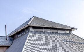 Ein Blechdach als Dacheindeckung.
