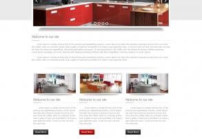 Webpage Templatedesign für DAN Küchen Margareten