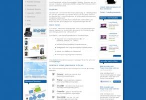 Webpage Templatedesign für EDV Service Wien