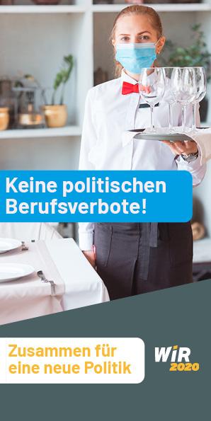 Keine politischen Berufsverbote