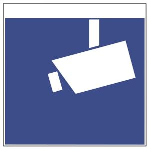 Piktogramm für die vom Datenschutz-Recht vorgesehene Information über Videoüberwachung