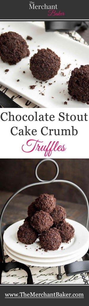 Chocolate Stout Cake Crumb Truffles