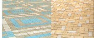 Фото укладки тротуарной плитки в Краснодаре
