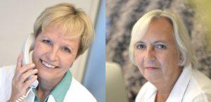 Mitarbeiter Gabriele Schröder und Angelika Neubauer