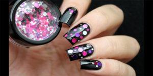 конффети дизайн для ногтей